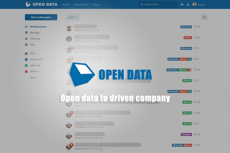 โครงการ Open data เพื่อขับเคลื่อนวัฒนธรรมองค์กรของ iOTech